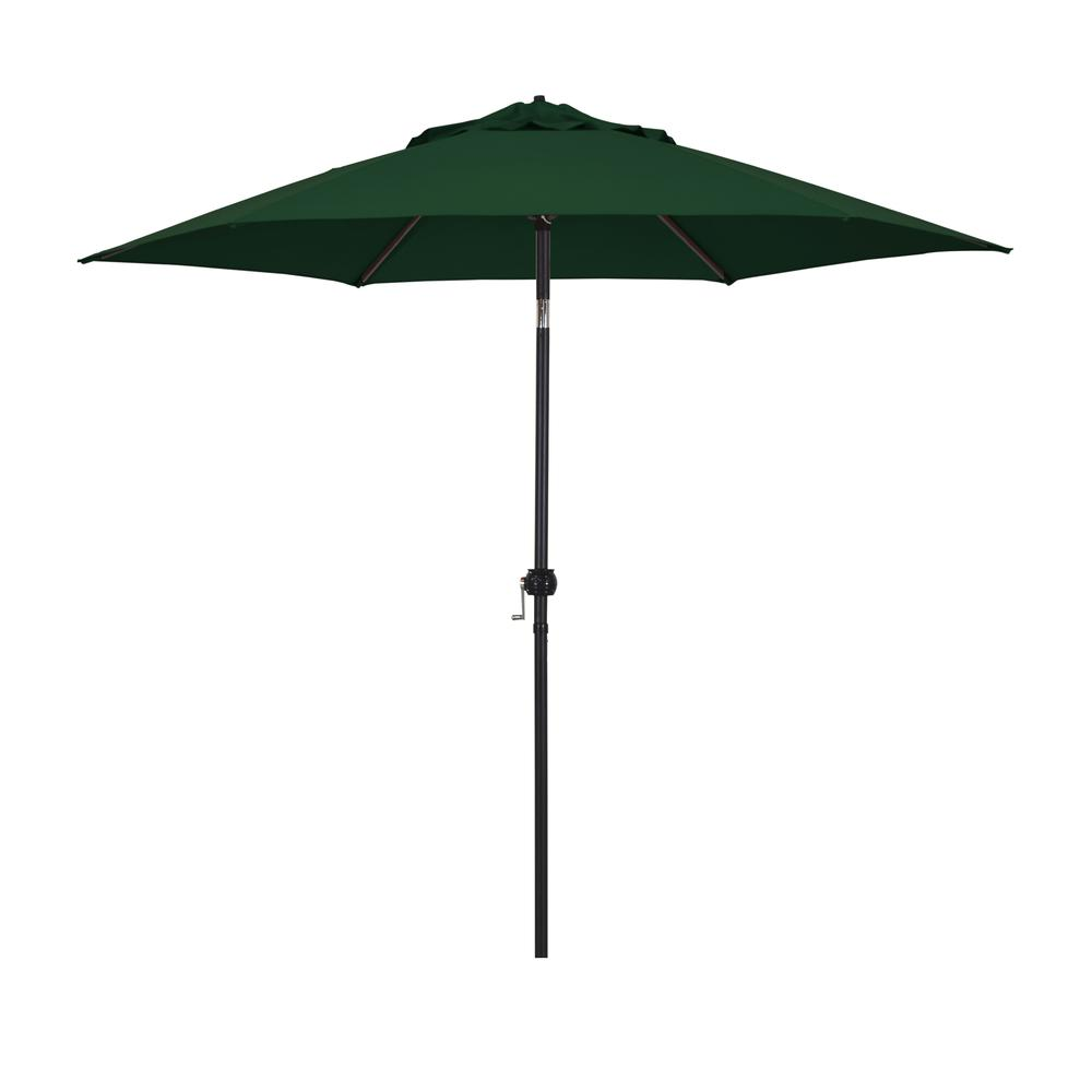 9' Eco Series Steel Market Umbrella with Push Tilt in Polyester Hunter Green