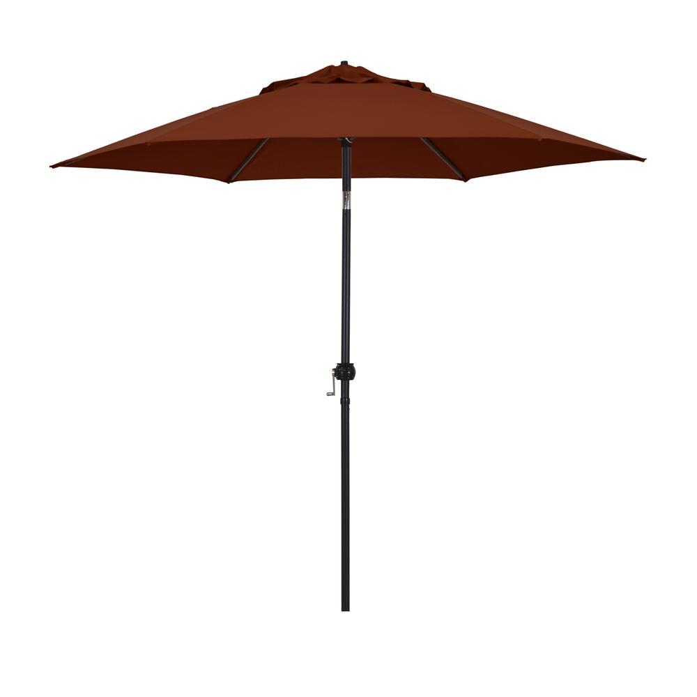 9' Eco Series Steel Market Umbrella with Push Tilt in Polyester Brick