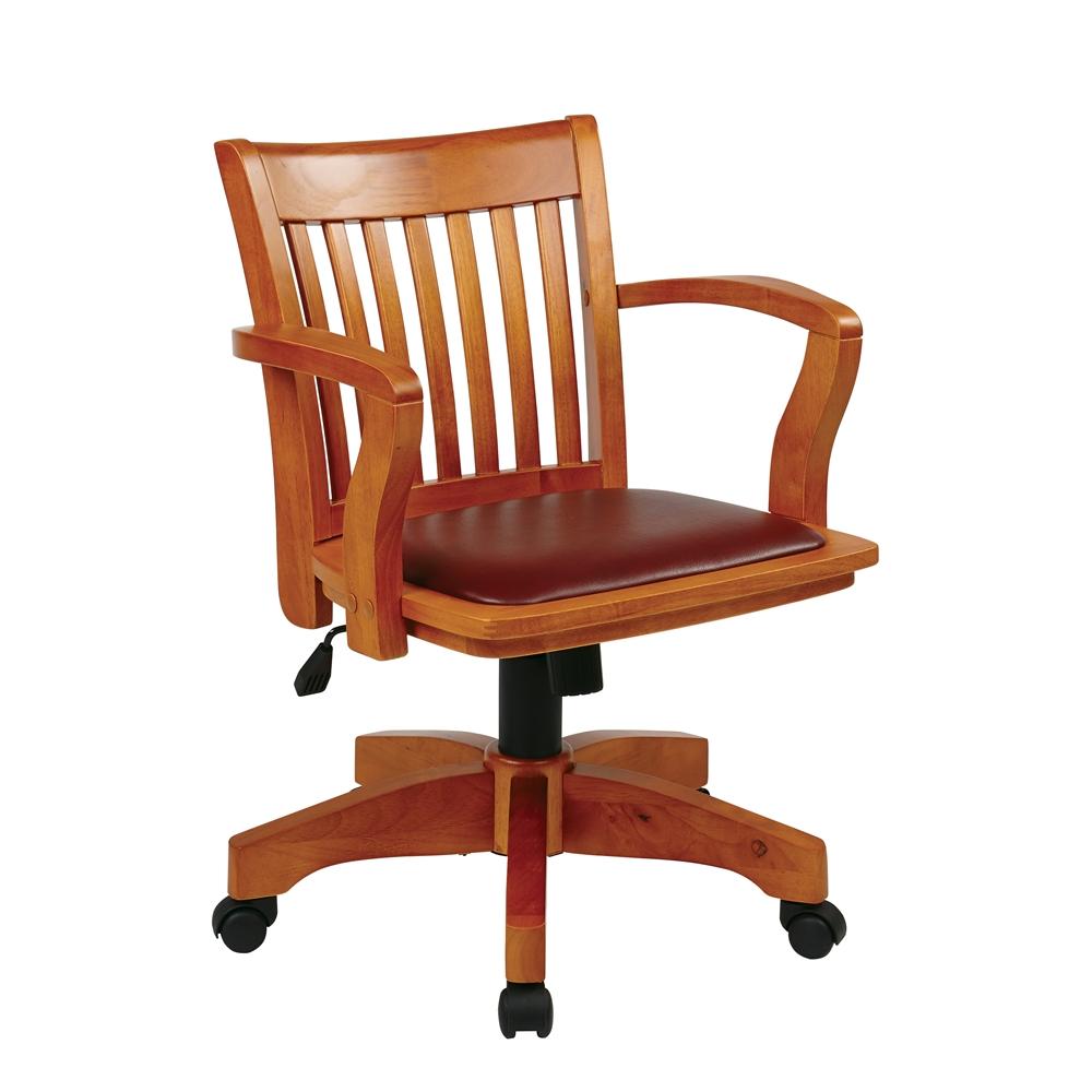 Deluxe Wood Banker S Chair