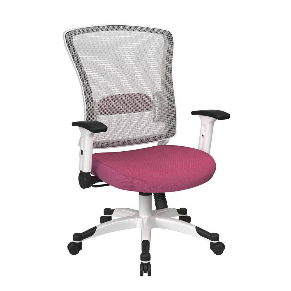 White Frame Managers Chair. Picture 1
