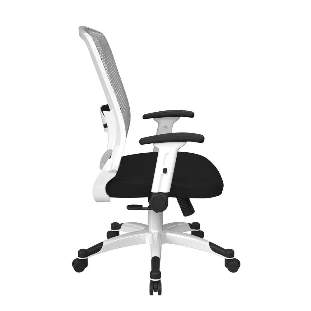 White Frame Managers Chair. Picture 2