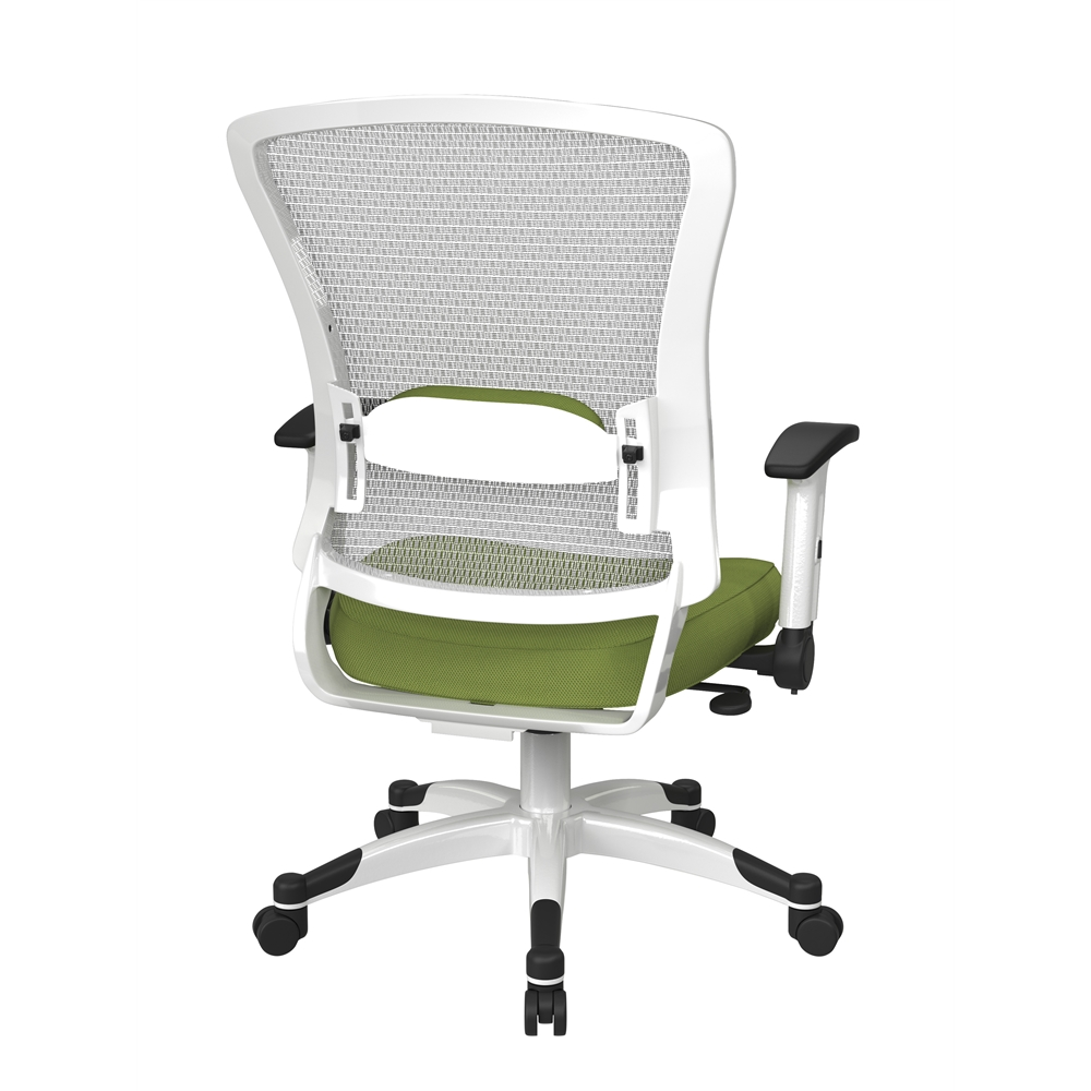 White Frame Managers Chair. Picture 3
