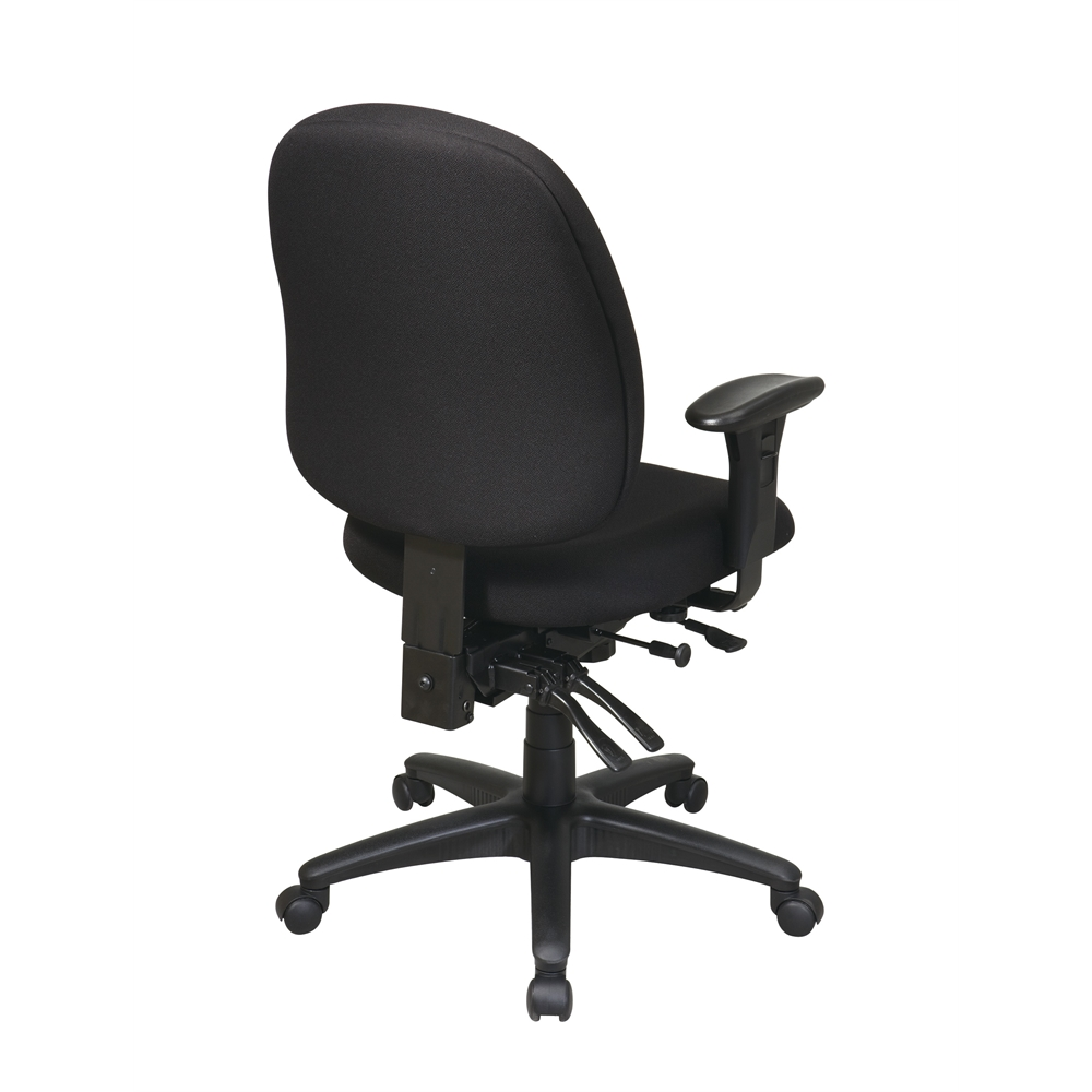 Mid Back Multi Function Ergonomics Chair with Ratchet Back, Seat Slider and 2-way Adjustable Arms. Picture 3