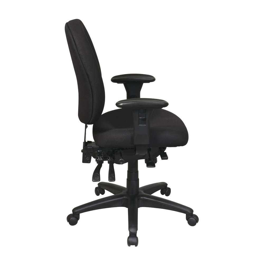 Mid Back Multi Function Ergonomics Chair with Ratchet Back, Seat Slider and 2-way Adjustable Arms. Picture 2