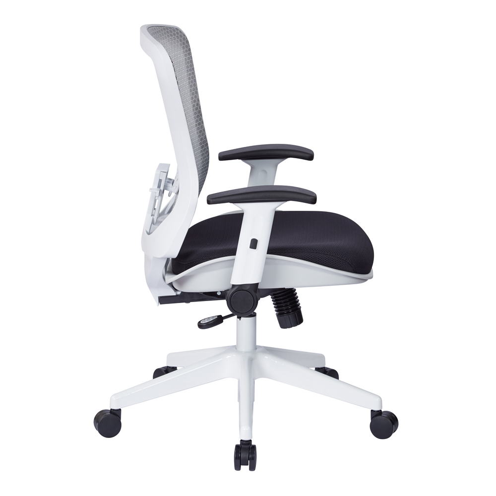 White Breathable Mesh Back Managers Chair. Picture 2