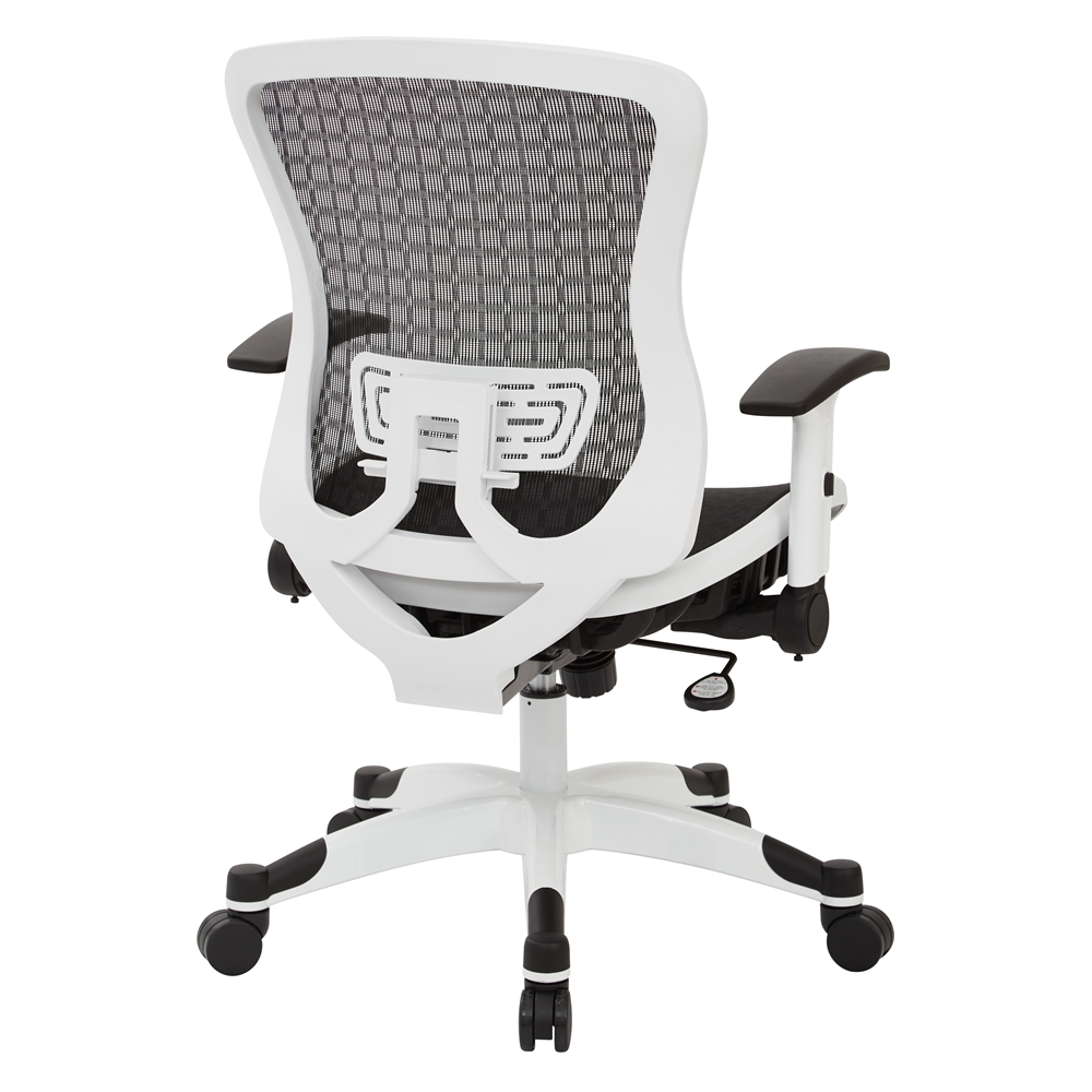 White Frame CHX Dark Breathable Mesh Seat and Back Manager Chair. Picture 3