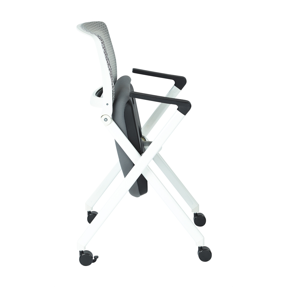 Folding Chair With Breathable Mesh Back. Picture 4