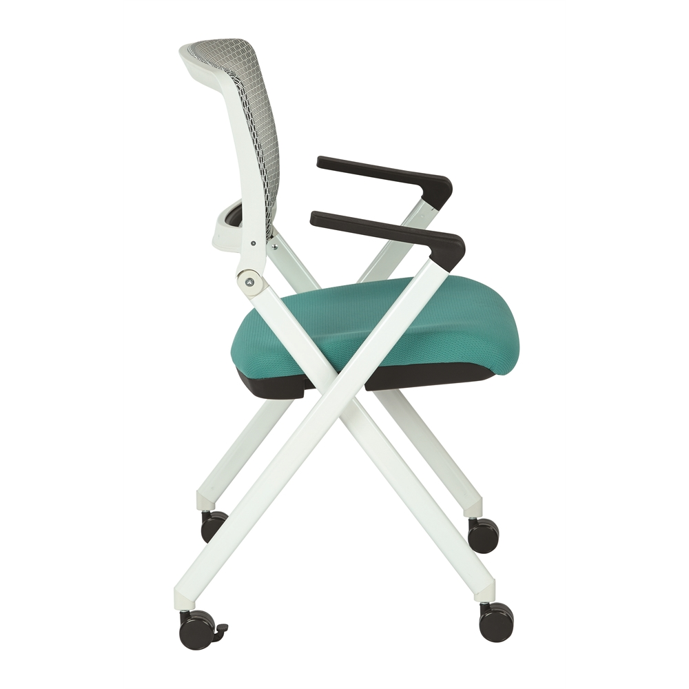 Folding Chair With Breathable Mesh Back. Picture 2