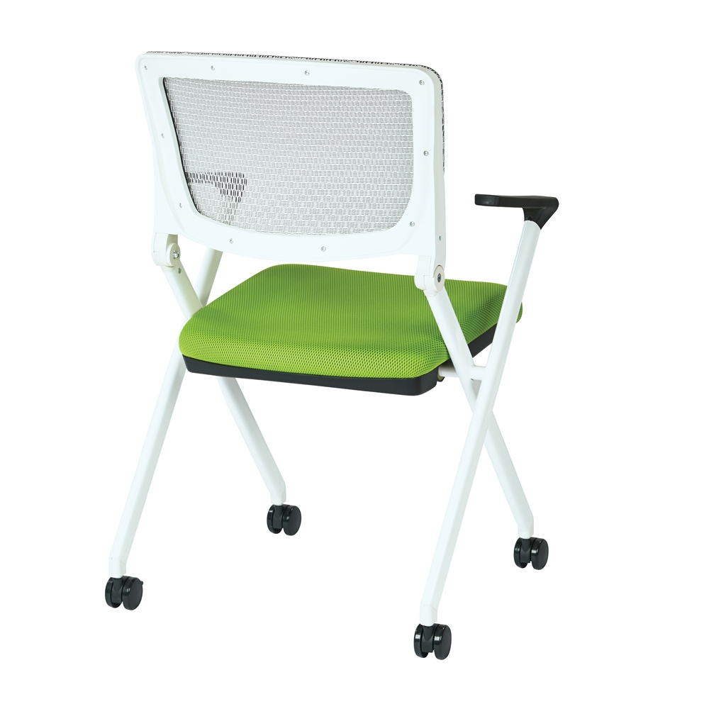 Folding Chair With Breathable Mesh Back. Picture 3