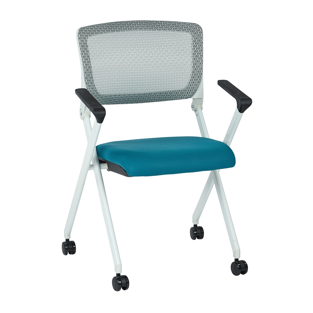 Folding Chair With Breathable Mesh Back. Picture 1