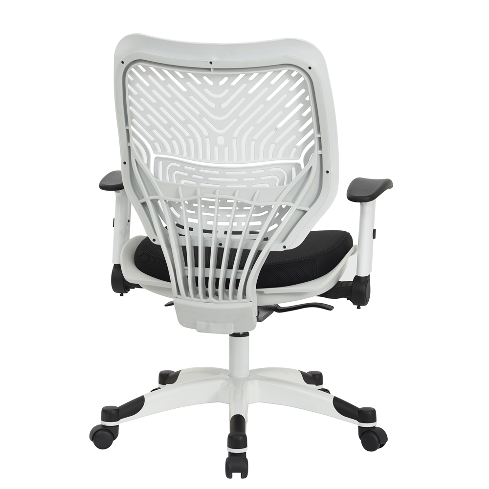 White Self Adjusting SpaceFlex Back Managers Chair. Picture 3