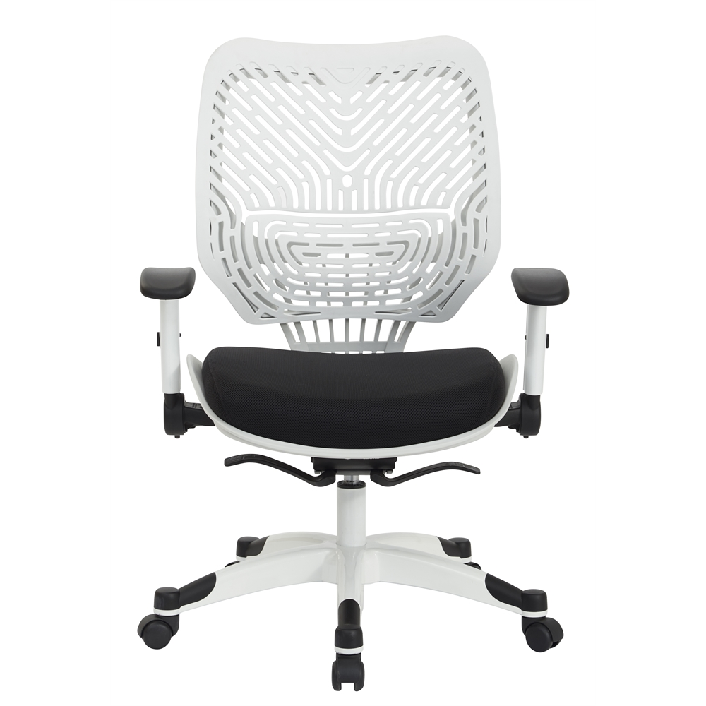White Self Adjusting SpaceFlex Back Managers Chair. Picture 1