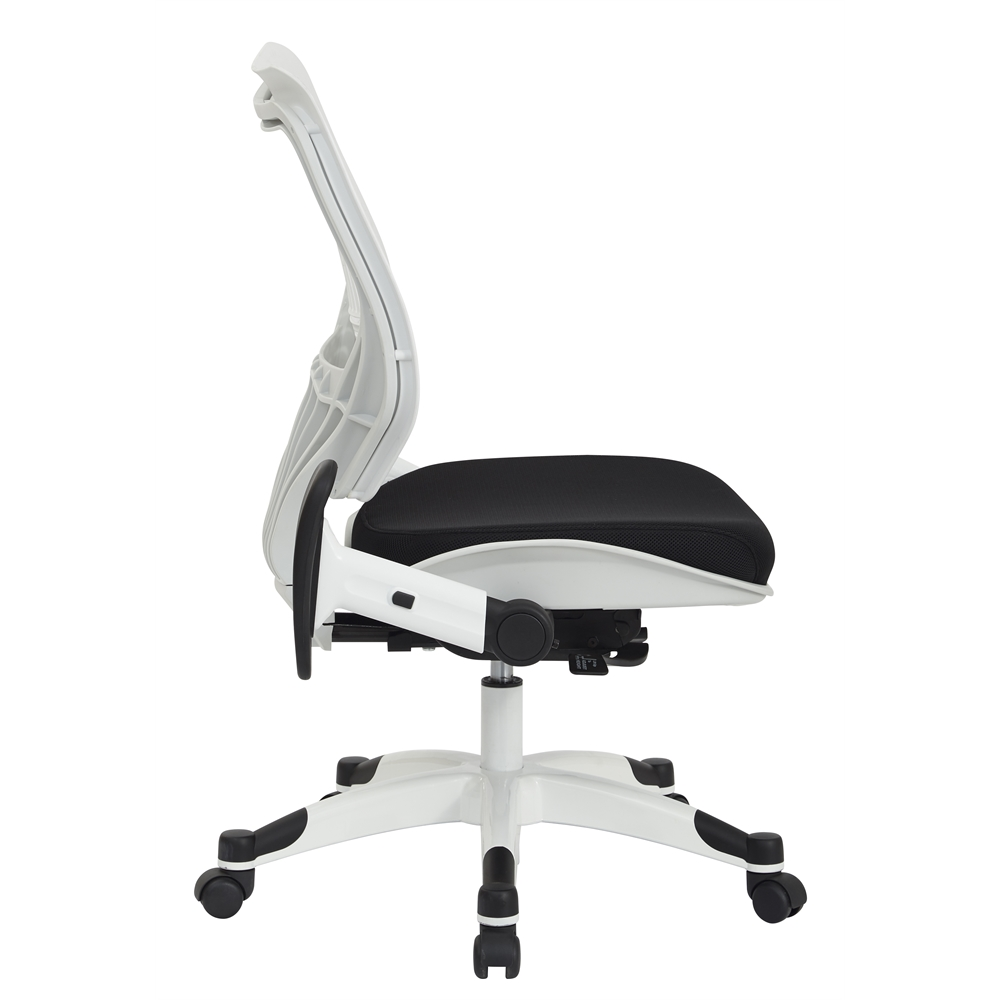 White Self Adjusting SpaceFlex Back Managers Chair. Picture 2