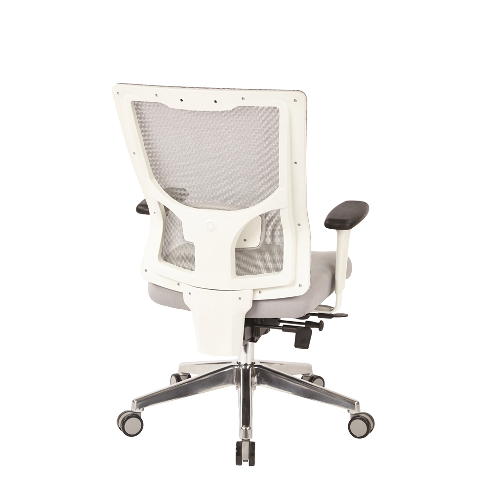 ProGrid® White Mesh Mid Back Chair. Picture 3