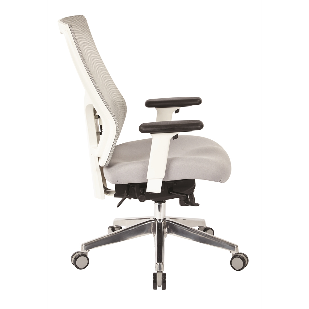 ProGrid® White Mesh Mid Back Chair. Picture 2