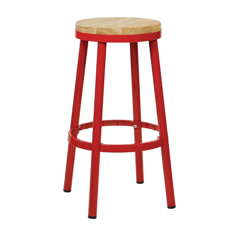 "Bristow 30"" Metal Backless Barstool. Picture 1"