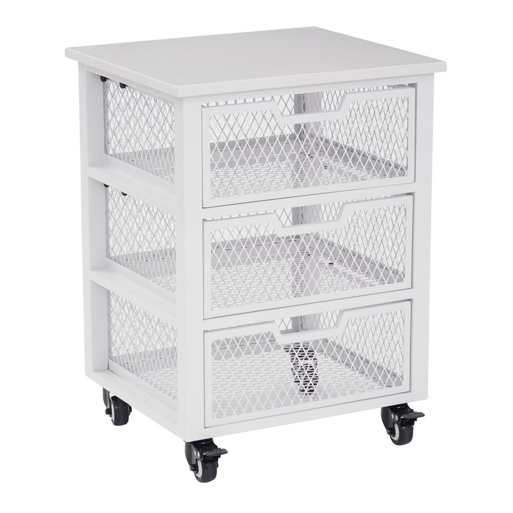 Clayton 3 Drawer Rolling Cart. Picture 1