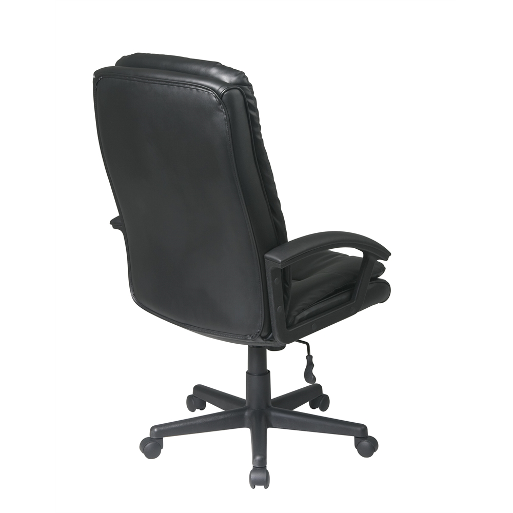 Deluxe high back executive bonded leather chair for High back leather chairs