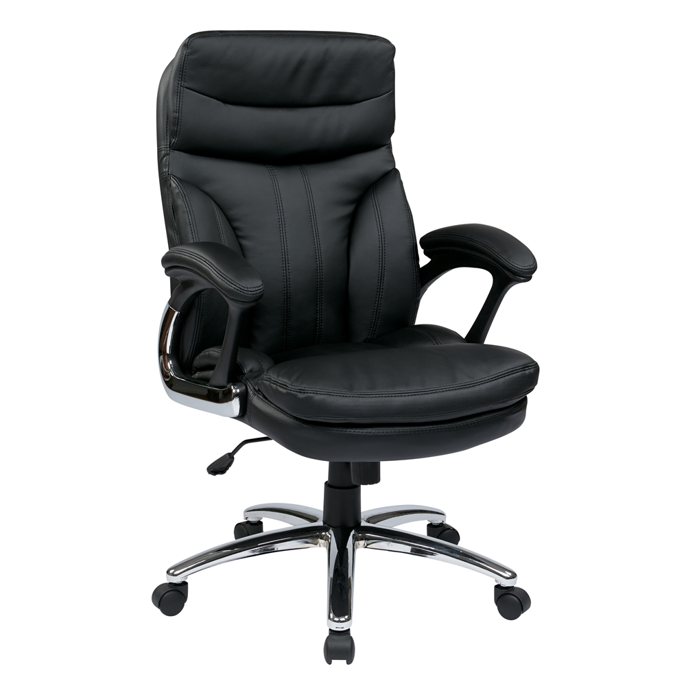 High back executive faux leather chair for High back leather chairs
