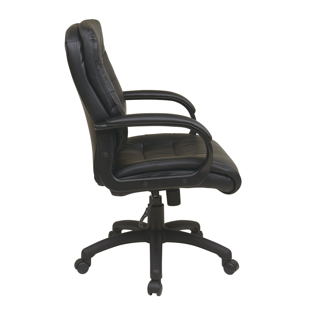 Mid Back Faux Leather Executive Chair. Picture 2