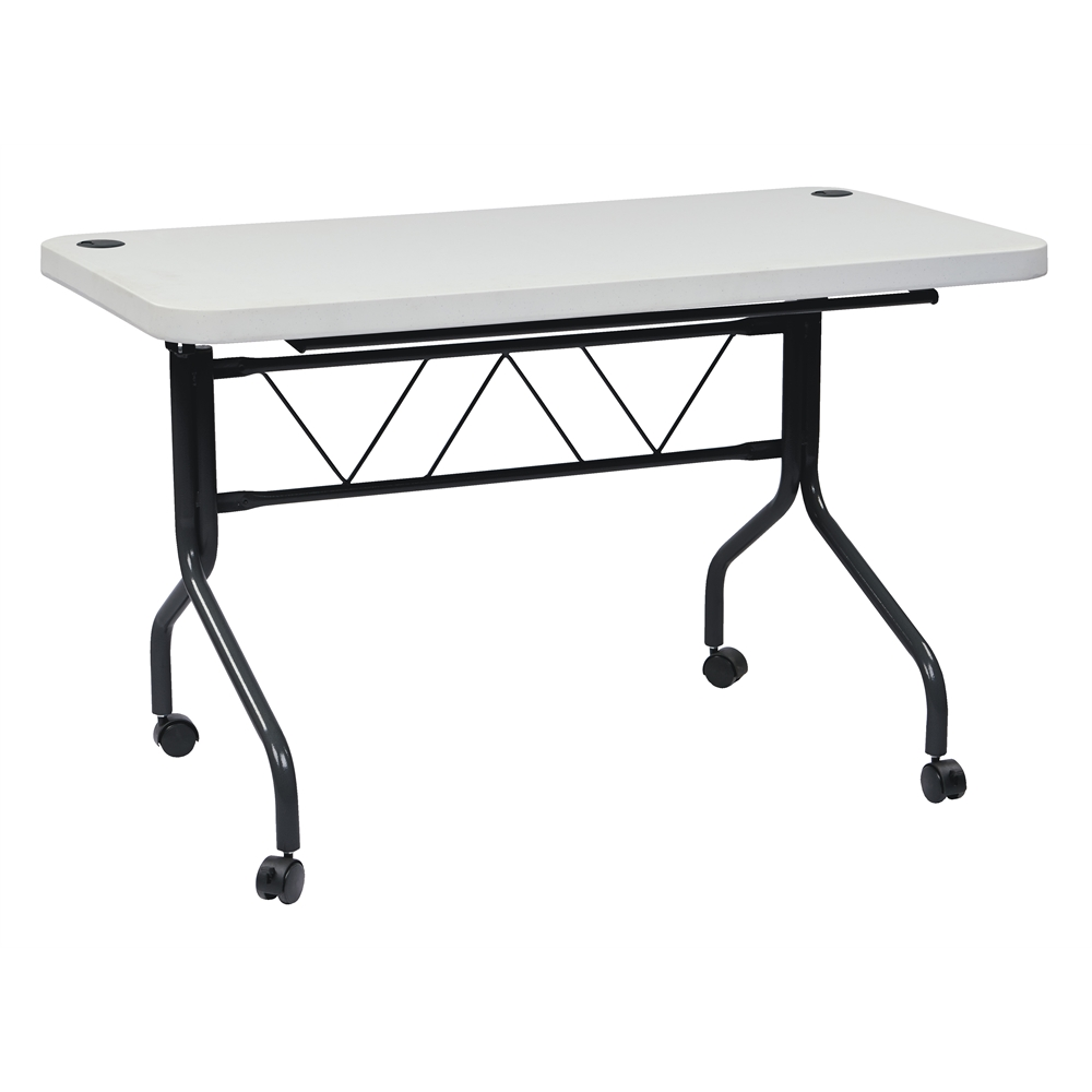 4' Resin Multi Purpose Flip Table with Locking Casters. Picture 1