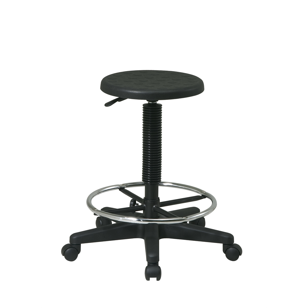 Stool with Adjustable Footrest. Picture 1