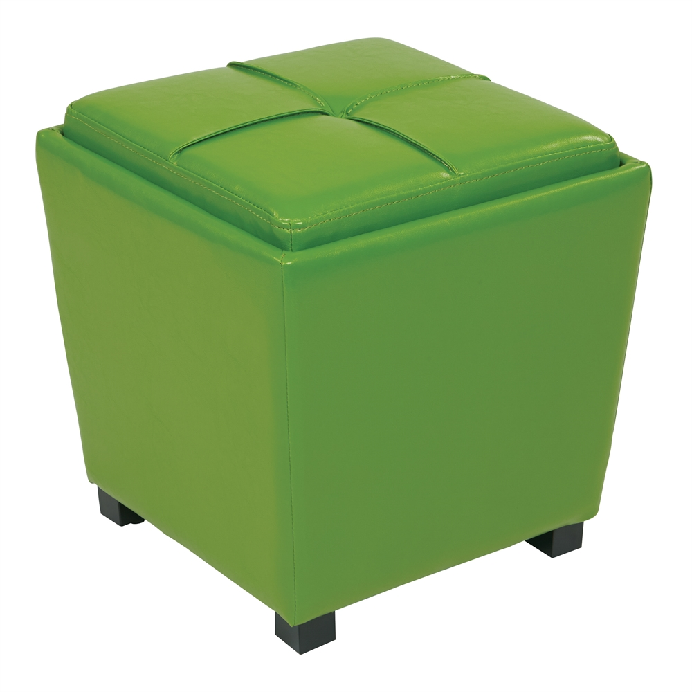 15 cube ottoman with tray kira leather cocktail ottoman