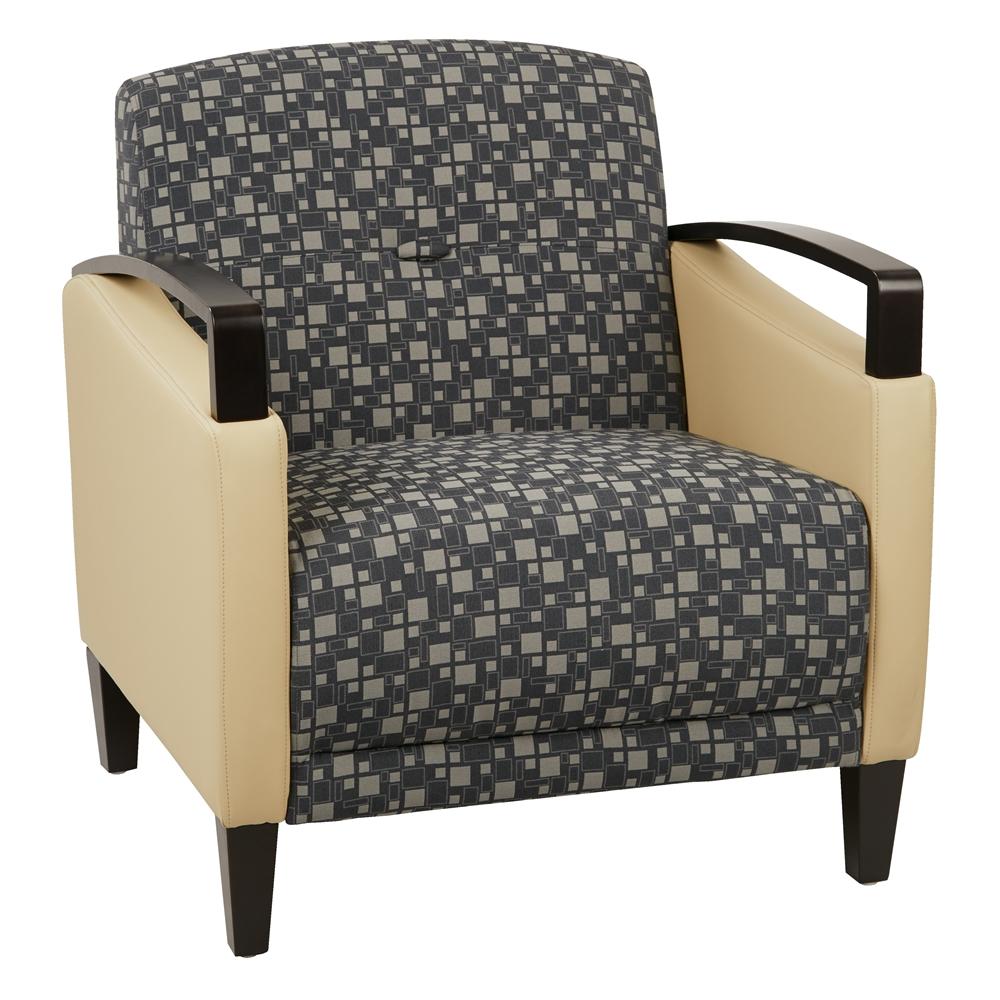 Main Street 2-Tone Custom Fabric Chair. Picture 1