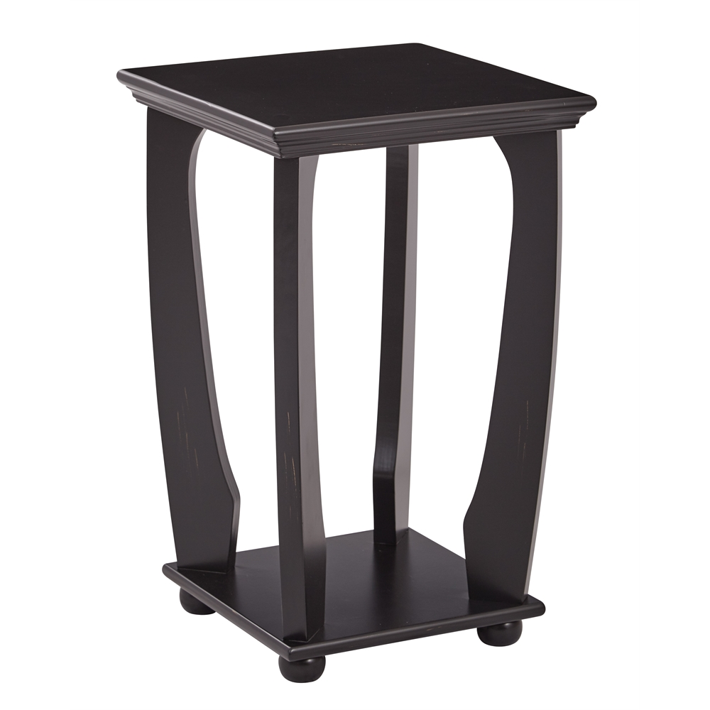 Mila square accent table for Black wood end tables
