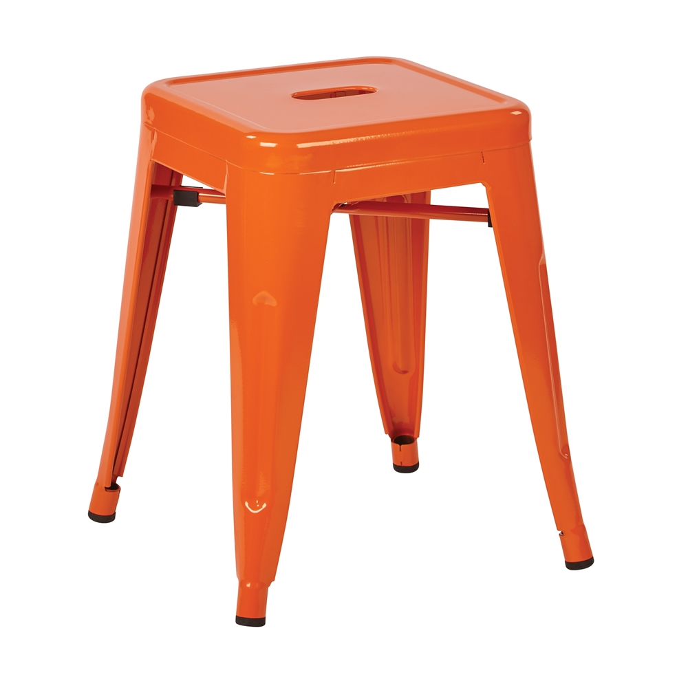 """Patterson 18"""" Metal Backless Stool. Picture 1"""
