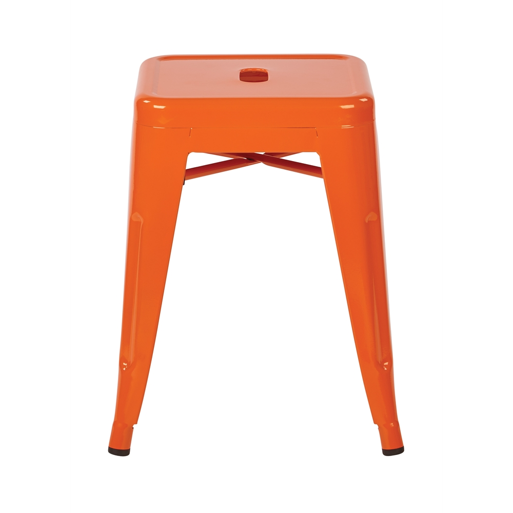 """Patterson 18"""" Metal Backless Stool. Picture 2"""