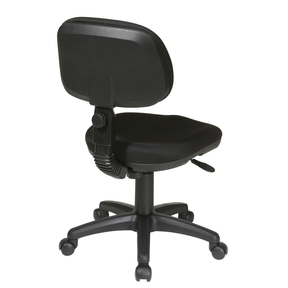 High Back Folding Black Leather Executive Swivel Office