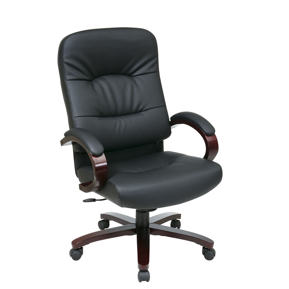 Executive bonded leather high back chair for High back leather chairs