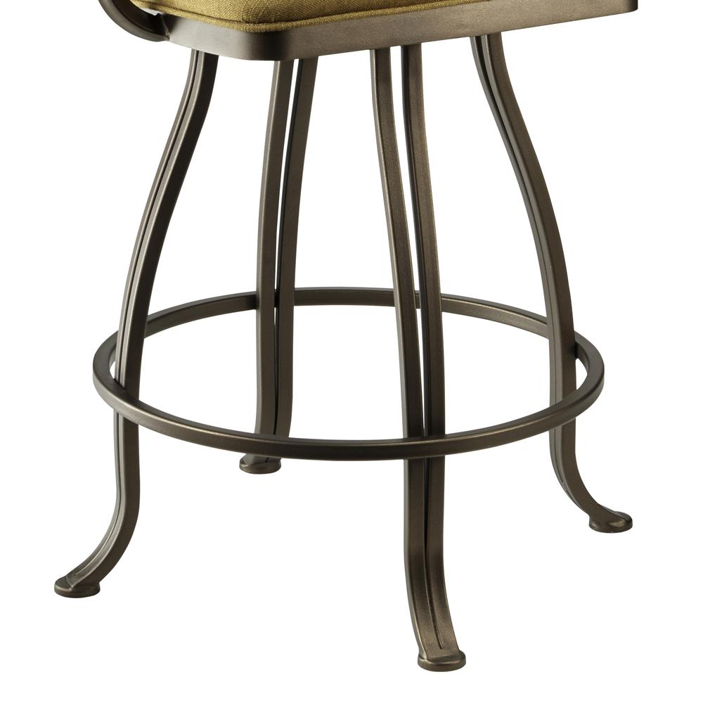 Sicilia 26 Quot Counter Height Metal Swivel Barstool In Echo
