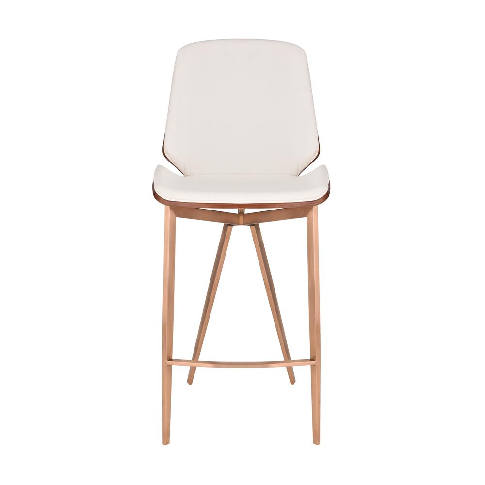 Karen Contemporary 26 Quot Counter Height Bar Stool In Copper