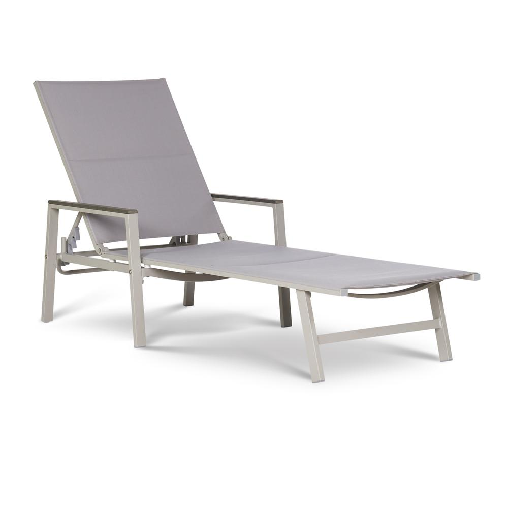 Positano Gray Sling Patio Chaise Lounge