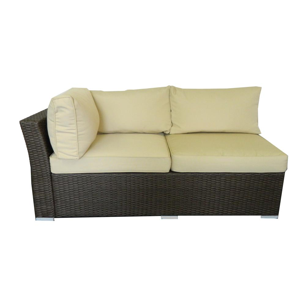 Jicaro 5 Pieces Outdoor Wicker Sectional Sofa Set
