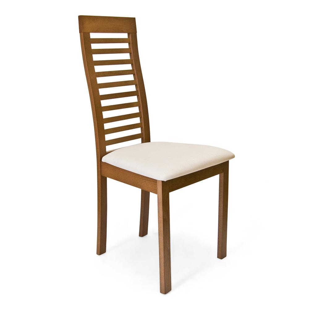 Denver Dining Chair, Light Walnut. Picture 1