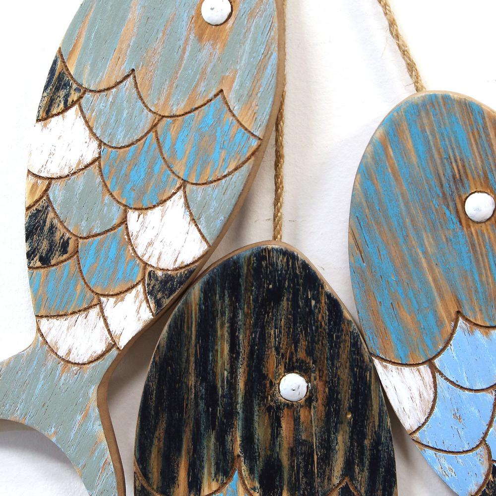House Decoration Craft Kissing Fish Home Furnishings: Stratton Home Decor Rustic Wooden Fish Wall Decor