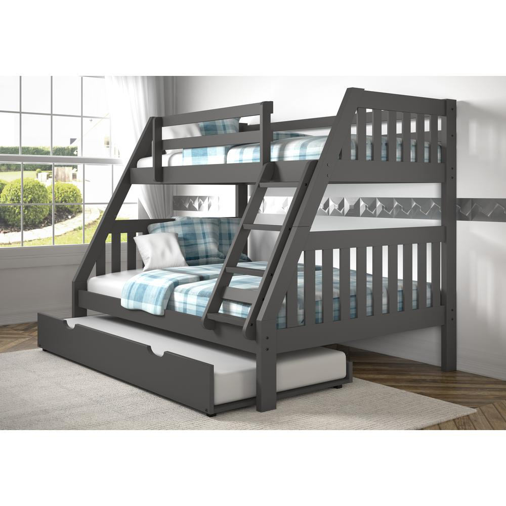 Twin/Full Mission Bunk Bed W/Twin Trundle. Picture 2