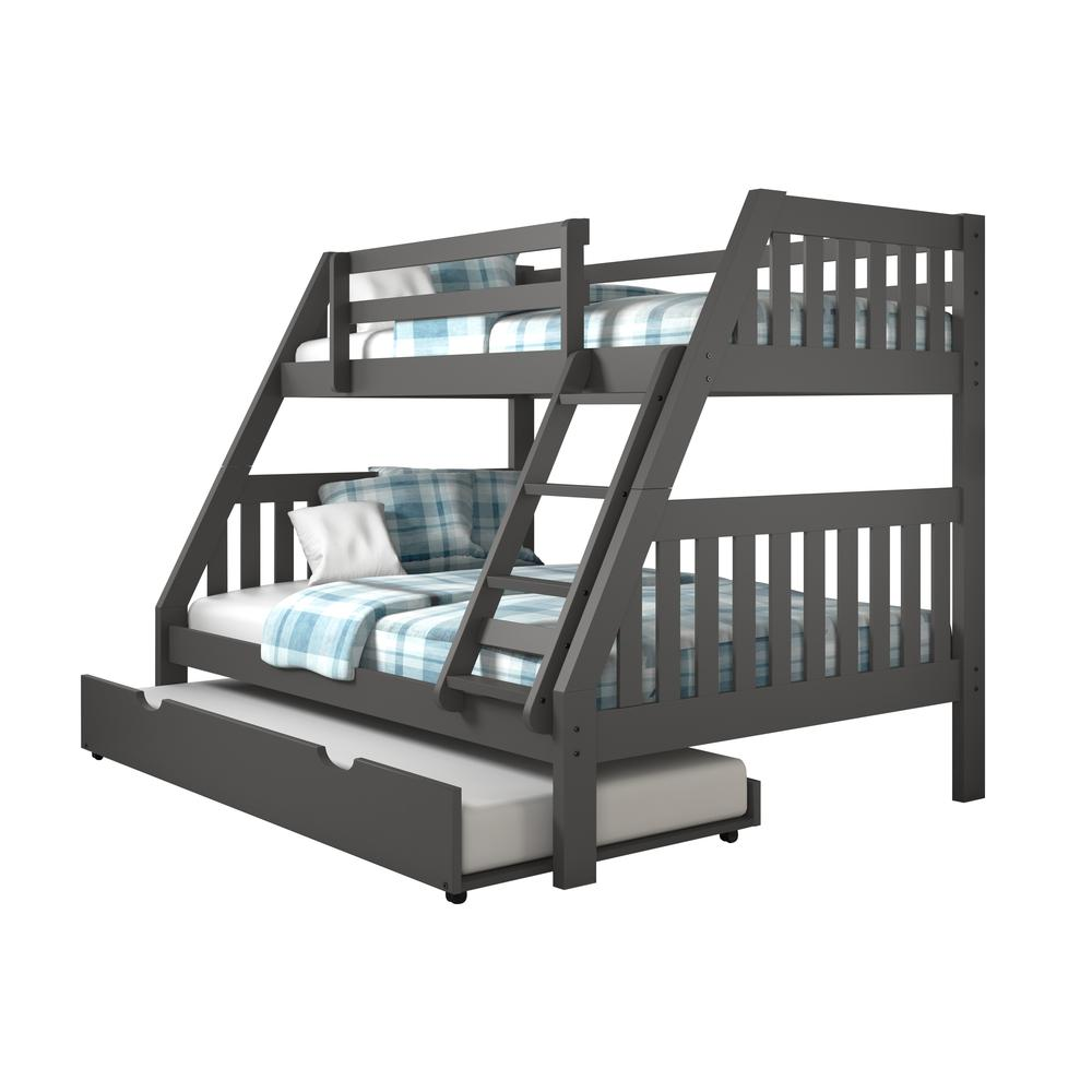 Twin/Full Mission Bunk Bed W/Twin Trundle. Picture 3