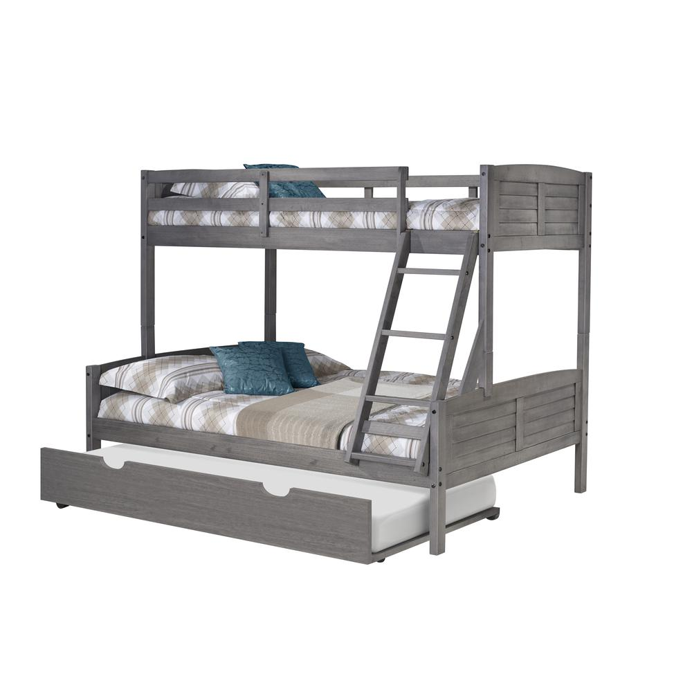 Twin/Full Louver Bunk Bed W/Twin Trundle. Picture 3