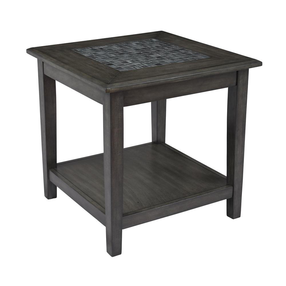 Grey Mosaic End Table. Picture 2
