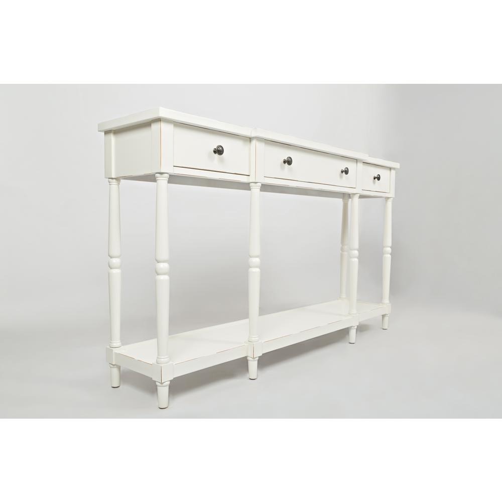 """Stately Home 60"""" Console- Antique White. Picture 9"""