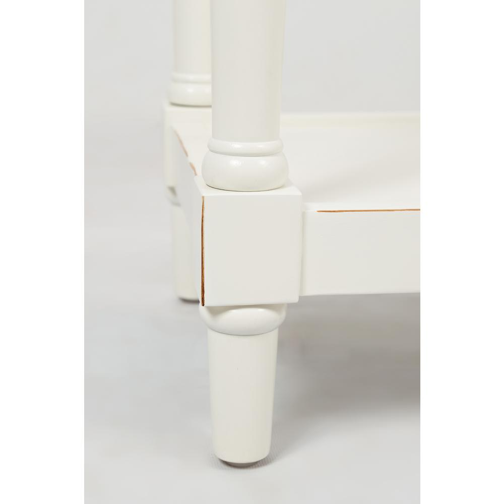 """Stately Home 60"""" Console- Antique White. Picture 12"""