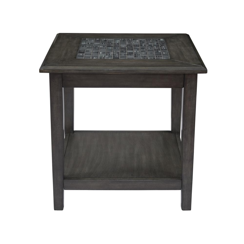 Grey Mosaic End Table. Picture 1