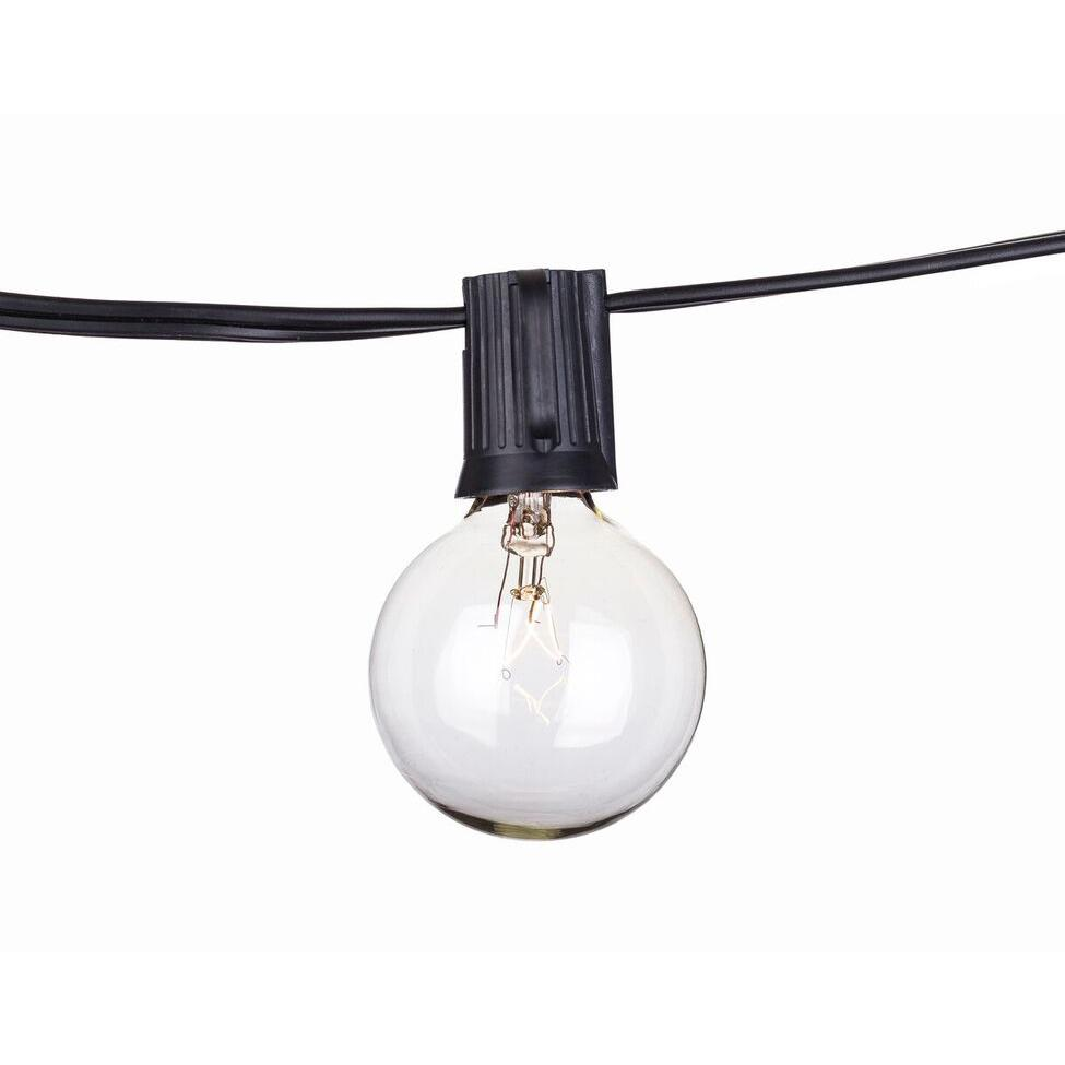 String Lights In Office: Black Cord -Black Commercial C9 50ft