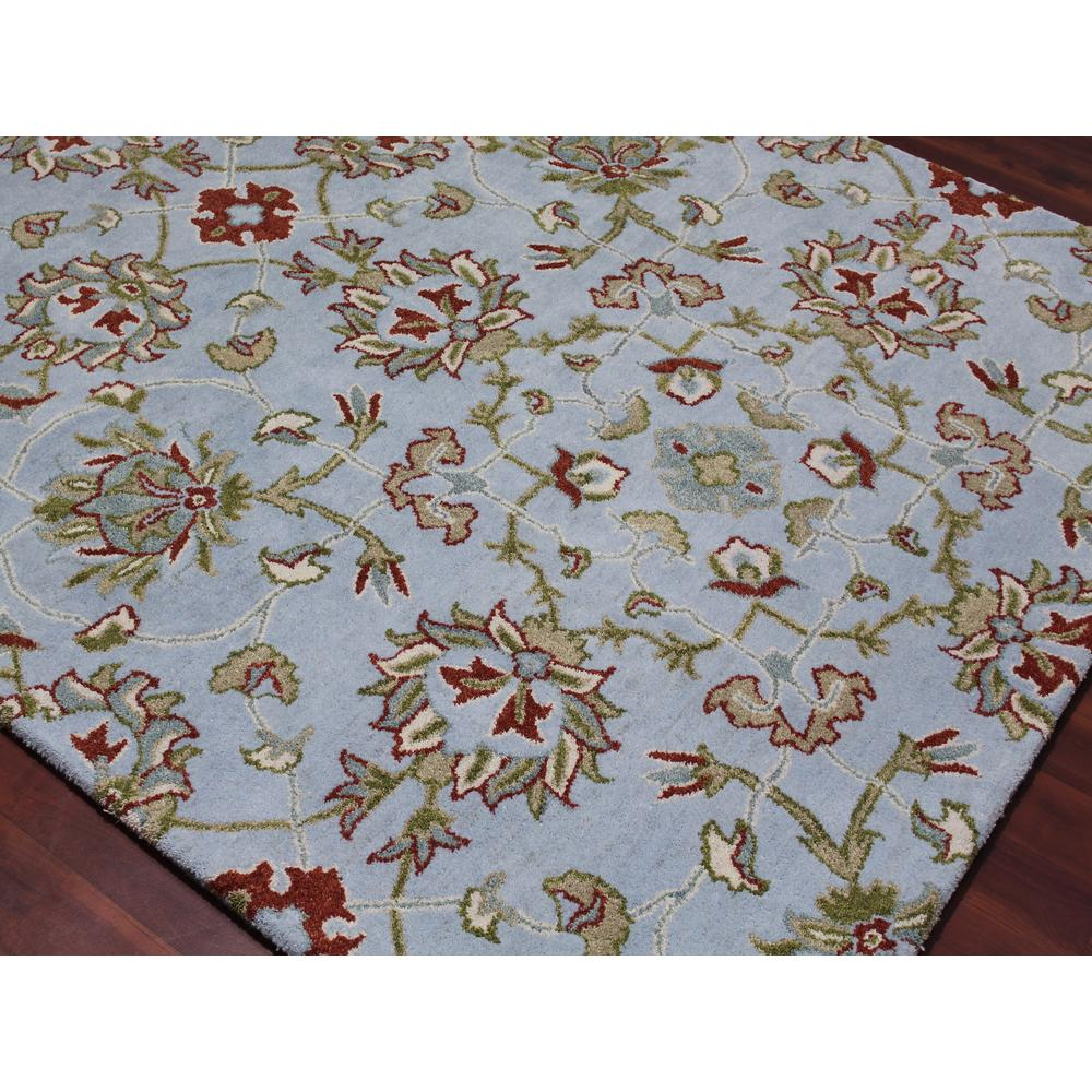 Bloom Light Blue Hand Tufted Area Rug 8 X11