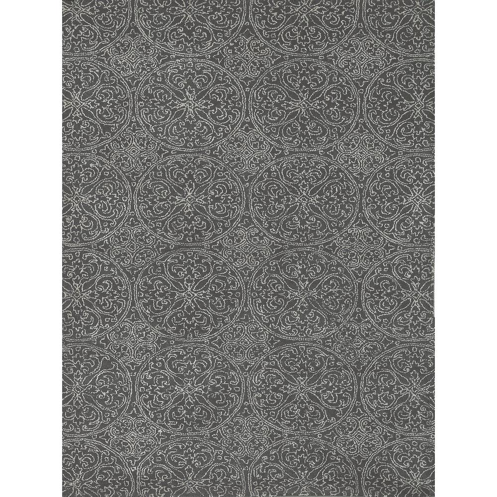 "Runner Rugs Limerick: Serendipity Dark Gray Hand-Tufted Area Rug 7'6""x9'6"""