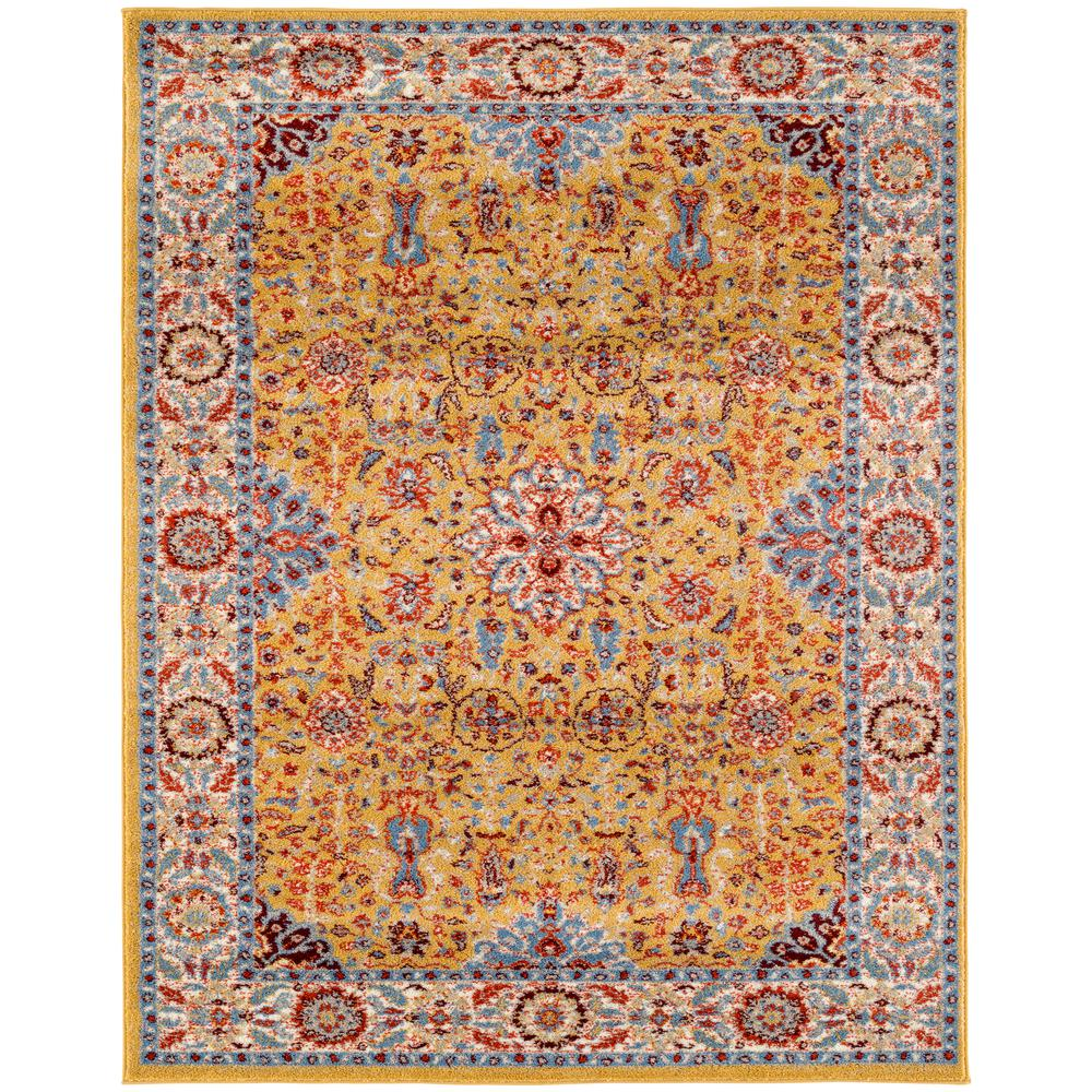 Sanya 7 Gold Power Loomed Area Rug 8 9 Quot X11 9 Quot